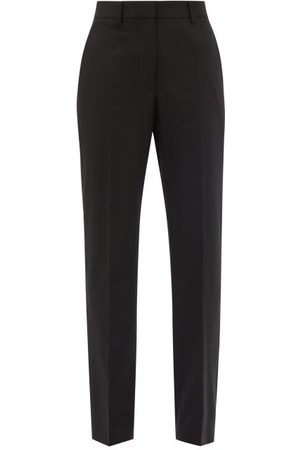 Victoria Beckham High-rise Wool-blend Twill Slim-leg Trousers - Womens