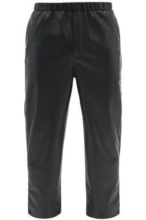 Nanushka Men Leather Pants - Gabe Vegan-leather Straight-leg Trousers - Mens