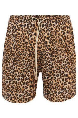 Nanushka Doxxi Drawstring Leopard-print Crepe Shorts - Mens - Multi
