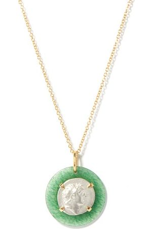 Dubini Women Necklaces - Ariarthes Vii Silver-coin & 18kt Gold Necklace - Womens - Multi