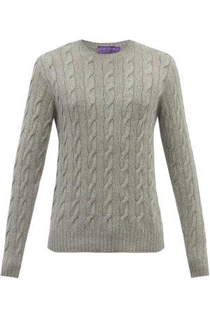Ralph Lauren Crew-neck Cable-knit Cashmere Sweater - Mens - Grey