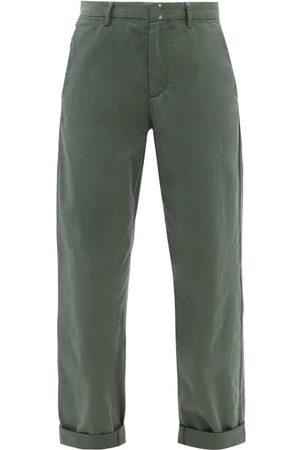 A.P.C. Gaelle Cropped Cotton Chino Trousers - Womens - Khaki