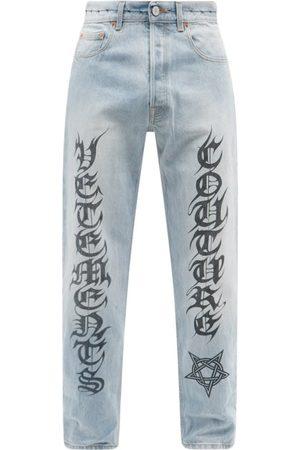 Vetements Men Straight - Couture-logo Straight-leg Jeans - Mens