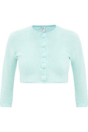 Lisa Marie Fernandez Cropped Cotton-blend Terry Cardigan - Womens