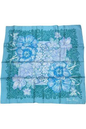 Nina Ricci 100% Authentic Turquoise Silk Scarf