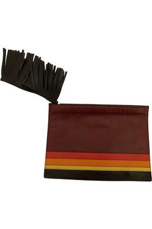 ELENA GHISELLINI Women Clutches - Burgundy Leather Clutch Bags