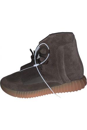 Yeezy Burgundy Suede Boots