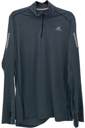 adidas Turquoise Polyester Knitwear & Sweatshirts