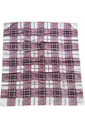 Loewe Burgundy Silk Scarves