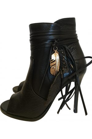 Coach Leather open toe boots