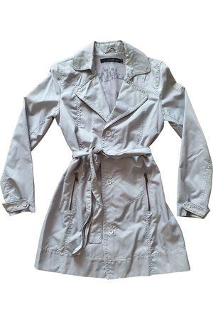 Calvin Klein Grey Synthetic Trench Coats