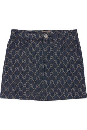 Gucci Gg Jacquard Organic Denim Skirt