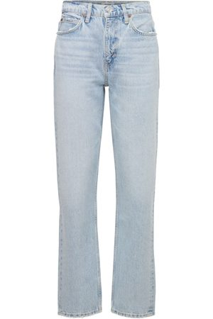 RE/DONE 70s High-rise Straight Leg Denim Jeans