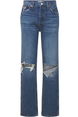 RE/DONE Women High Waisted - 90s High-rise Loose Denim Jeans W/ Rips