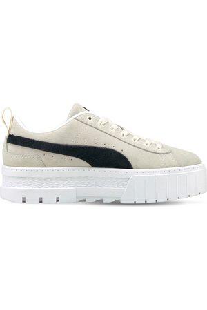 PUMA Mayze Platform Suede Sneakers