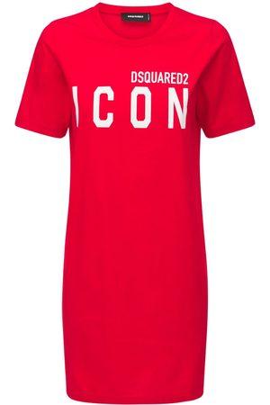 Dsquared2 Icon Renny Cotton Jersey Mini Dress