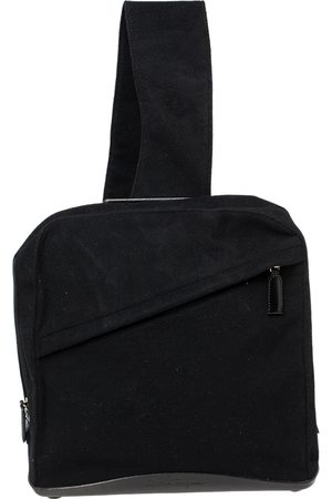 Salvatore Ferragamo Wool And Leather Slingback Backpack