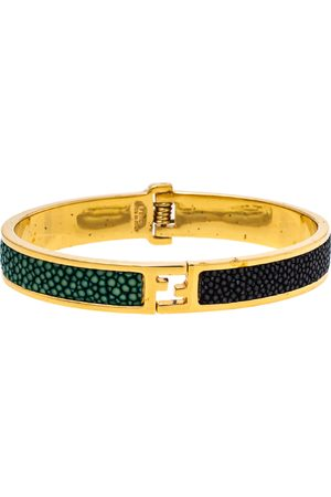 Fendi The sta Bicolor Stingray Gold Tone Bracelet S