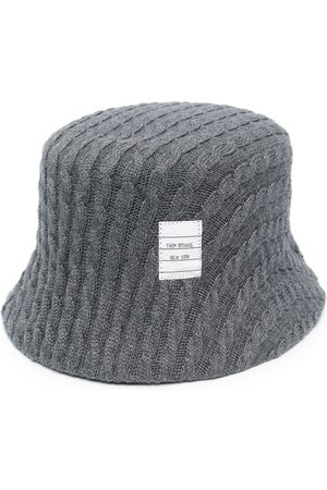 Thom Browne Cable knit bucket hat - Grey