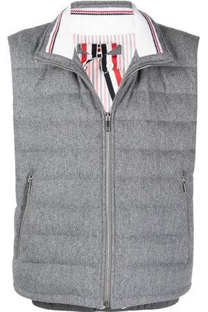 Thom Browne RWB stripe puffer gilet - Grey