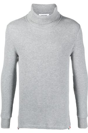 Thom Browne Ribbed roll-neck jumper - Grey