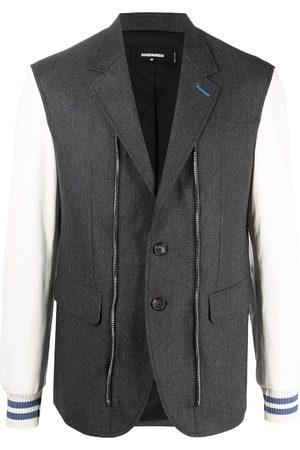 Dsquared2 Panelled logo blazer - Grey