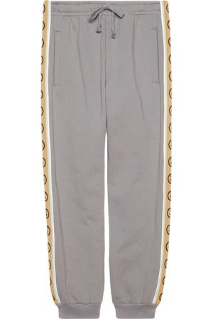 Gucci Men Sweatpants - Interlocking G taped track pants - Grey
