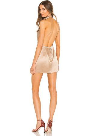 The Sei X REVOLVE Cowl Halter Mini Dress in Nude.