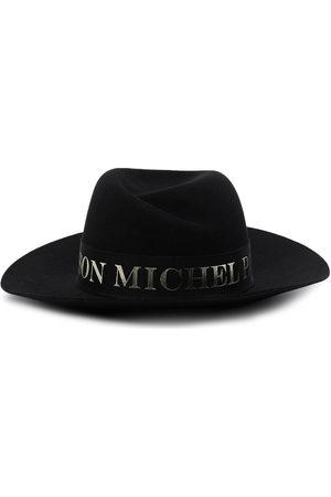 Le Mont St Michel Women Hats - Virginie logo-tape fedora hat