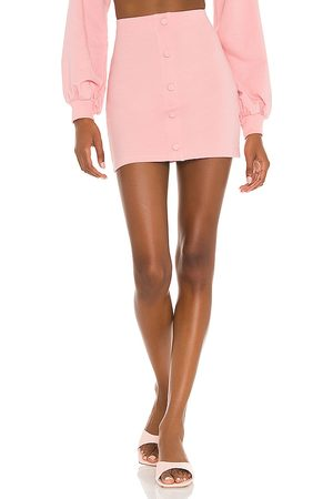 Camila Coelho Laurell Mini Skirt in Pink.