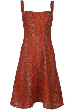 SALONI Printed Linen Dress