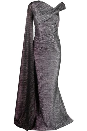 Talbot Runhof Women Evening dresses - One-shoulder metallic cape dress