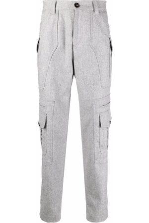Brunello Cucinelli Panelled straight-leg cargo trousers - Grey