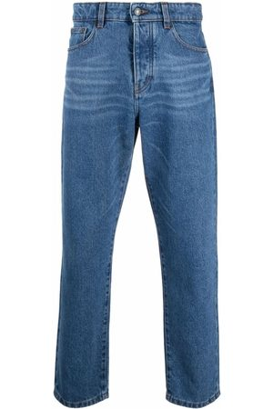 AMI Paris Mid-rise tapered jeans