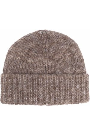 Maison Margiela Ribbed wool beanie hat - Neutrals