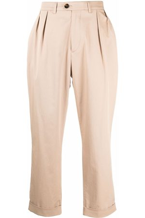 MACKINTOSH Field cropped chino trousers - Neutrals