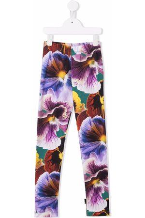 Molo Floral-print organic-cotton leggings