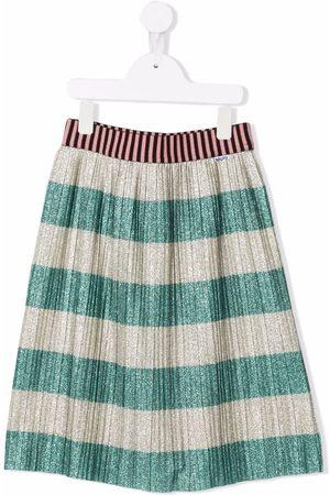 Molo Kids Stripe-print glittered skirt