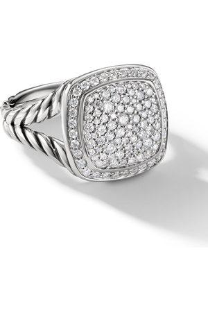 David Yurman 11mm sterling Albion diamond ring
