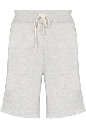 Polo Ralph Lauren Men Sports Shorts - Drawstring cotton-blend jersey shorts - Grey