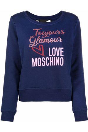 Love Moschino Logo-print cotton sweatshirt