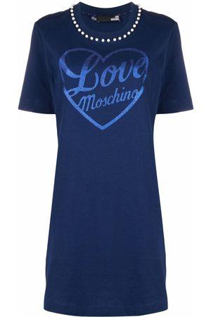 Love Moschino Logo-print jersey dress