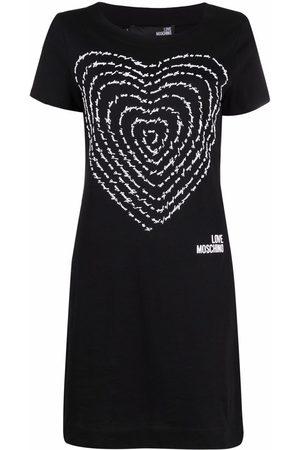 Love Moschino 3d heart cotton-jersey dress