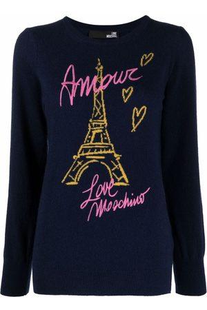 Love Moschino Eiffel Tower wool-blend jumper