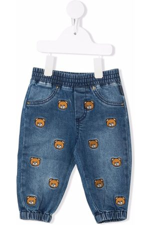 Moschino Bear-motif slouchy trousers
