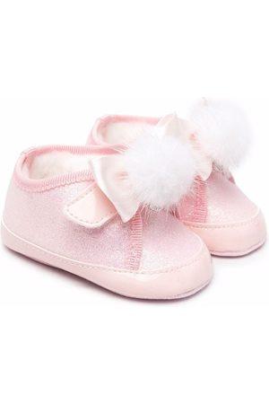 Monnalisa Glitter pompom shoes