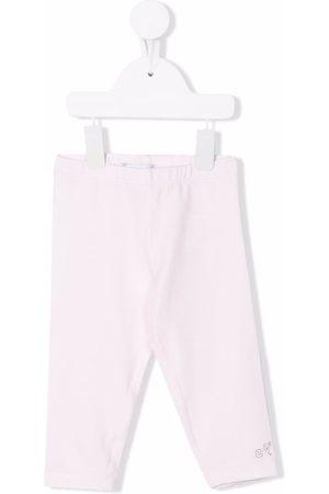 MONNALISA Logo-embellished cotton leggings