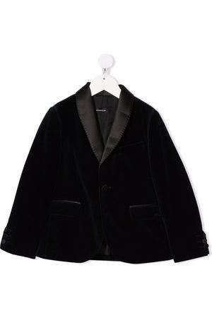 MONNALISA Single-breasted velvet jacket