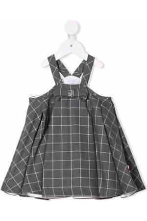 MONNALISA Checked pinafore dress - Grey