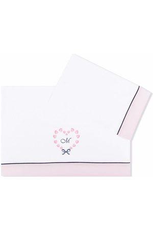 MONNALISA Logo-embroidered cotton blanket